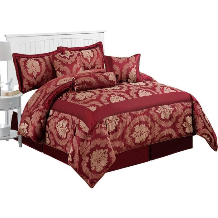 Imperial Rooms Luxury Jacquard 7 Pieces Literie Couvre Lits