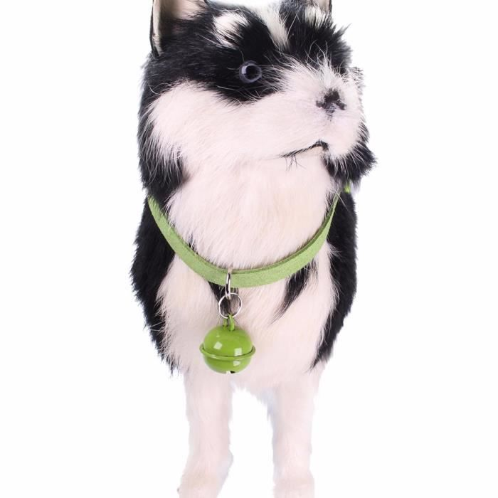 Exquisite Adjustable Dog Puppy Pet Collars Cat Shape Safety Pin Whit Bell Mo1462