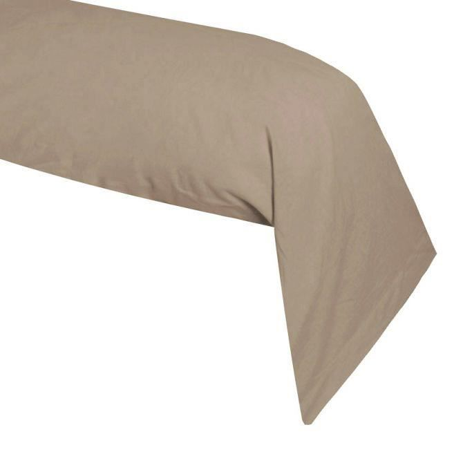 Taie de traversin LIN Taupe - Couleur - Taupe, Taille - 40x185 ...