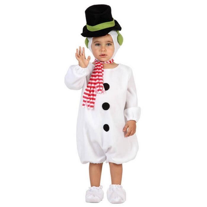 DÉGUISEMENT - PANOPLIE Déguisement bonhomme de neige bébé Noël 6 à 12 moi