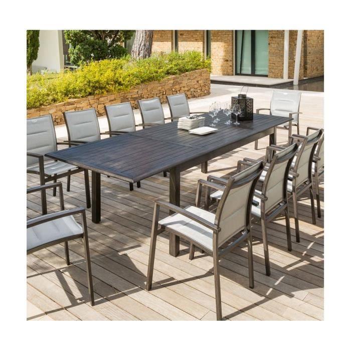 TABLE EXT. AZUA HESPERIDE 12 PERSONNES EFFET BOIS - Achat / Vente ...