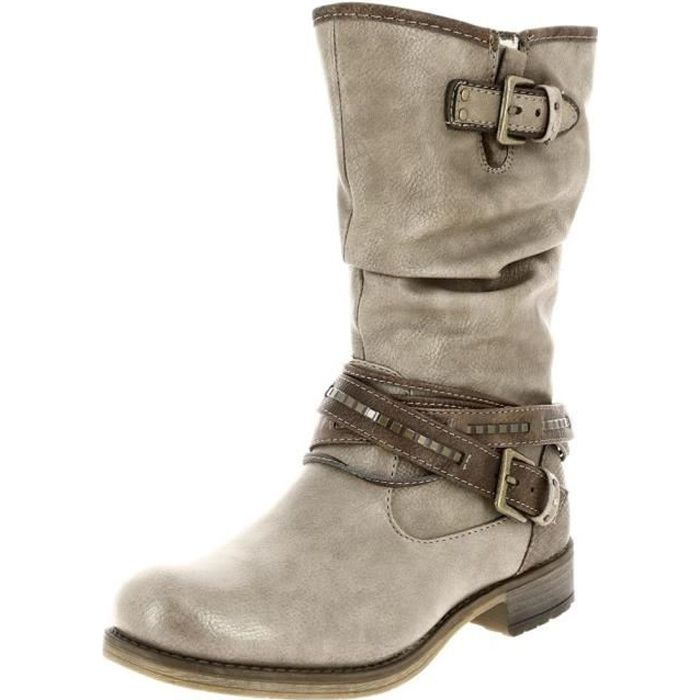 Femme Mustang 1139 Vente Taupe Botte Achat Bottes 624 qpvfU