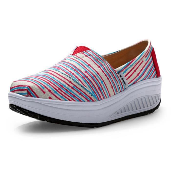 Chaussures Femme Printemps Été à fond épaiséChaussure DTG-XZ064Violet36