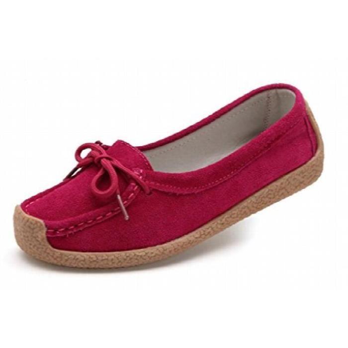 À lacets en cuir daim Mules Mocassins Mocassins Chaussures de travail 9802 T8DL1 Taille-40