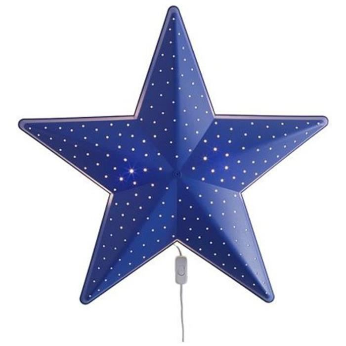 Xinqianmall La Lampe Murale D Etoile Bleue Pour Enfants L Ampoule