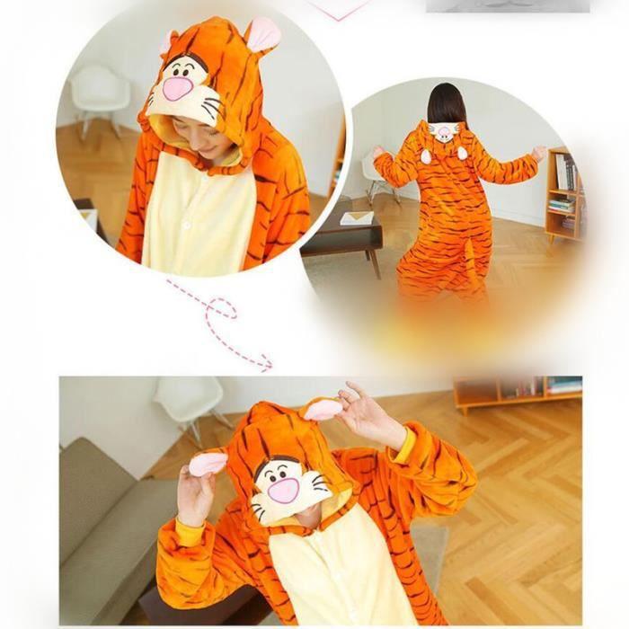 Nouvelle Animaux Cosplay Tigre Flanelle Arrivee Taille Pyjamas Classique De À Grande Animé Confortable Luxe Capuche Marque Dessin 7pq7BT