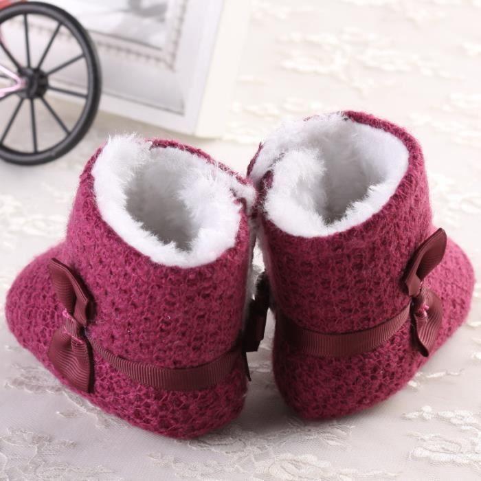 Nouveau Bébé Bottes de neige Tendance Loisirs Fond mou Garde au chaud Chaussures en coton bébé-Violet