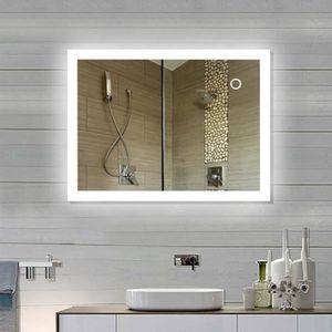 miroir salle de bain 90 x 70 achat vente pas cher. Black Bedroom Furniture Sets. Home Design Ideas