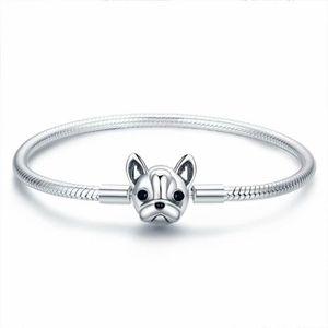 BRACELET - GOURMETTE BAMOER Bracelet charms style pandora Argent 925