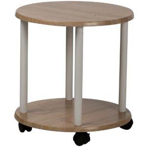 TABLE D'APPOINT Table d'appoint ronde sur roulettes