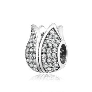 Charm's Charmes Fleur - Argent 925 et Crystal Fleur Charm