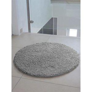 COUVERTURE - PLAID Tapis shaggy à poils longs Swirls Gris ø 80 cm ron