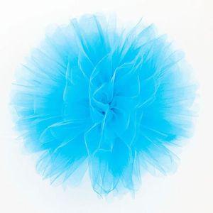 Décors de table Pompon en Tulle Candy Bar - Turquoise