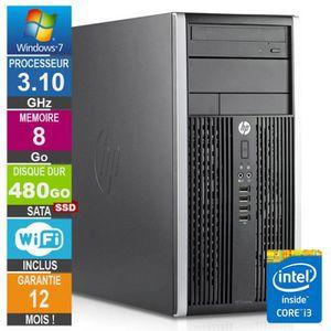 UNITÉ CENTRALE  PC HP Pro 6200 MT Core i3-2100 3.10GHz 8Go/480Go S