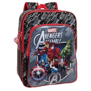 CARTABLE AVENGERS - Grand cartable 42 cm poche frontale The