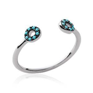 BAGUE - ANNEAU Bague anneau ouvert femme - argent massif 925 rhod