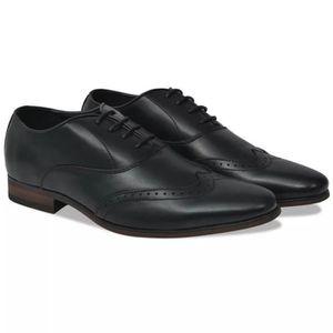 RICHELIEU Chaussures richelieu à lacets pour hommes Noir Poi