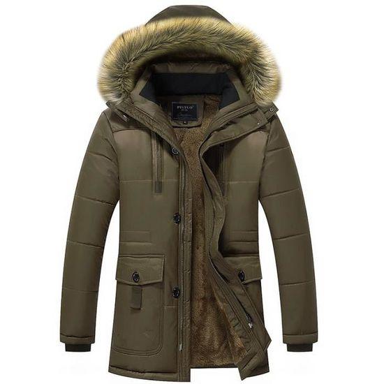 Du Chaud Hiver vent Homme Coupe neige Manteau Velours Anti Épaississement Préserver Vintage Collier Froid wq6tt0F