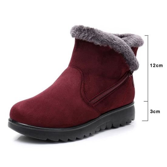 Mesdames Hiver Bottes La Short Chaussures Martin Cheville Neige Femmewll3698 De Fourrure Chaudes uXiPOkZ