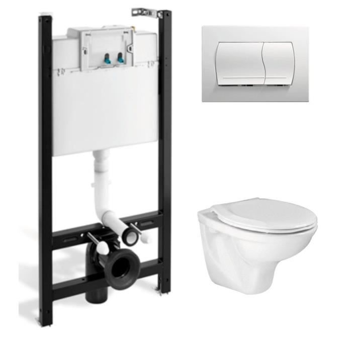 pack wc complet suspendu kolos achat vente wc toilettes pack wc mural kolos cdiscount. Black Bedroom Furniture Sets. Home Design Ideas