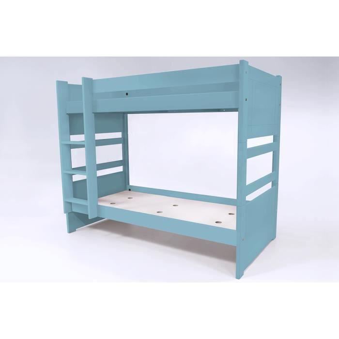 Lit Superposé Duo Transformable En 2 Lits Couleur Bleu Pastel