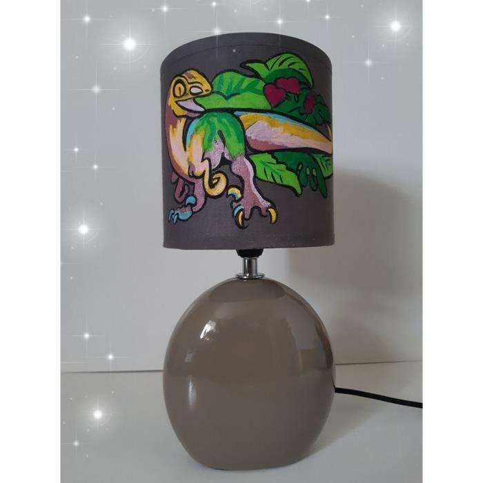 Pied Dinosaure Lampe De Main Ceramique Peint Chevet pUMVqSz