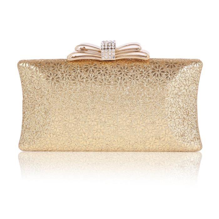 Craze womens cuir laser holographique enveloppe sac à main dembrayage K8Y5L