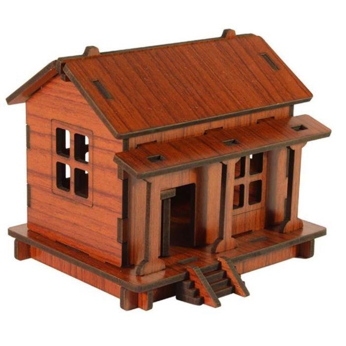 A maison de jouets en bois de bricolage enfants adultes du puzzle en 3d ach - Vente privee de bricolage ...