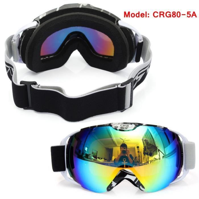 NEUFU Sphérique Anti-brouillard Deux Lentilles Sport Ski Lunette Protection Unisexe