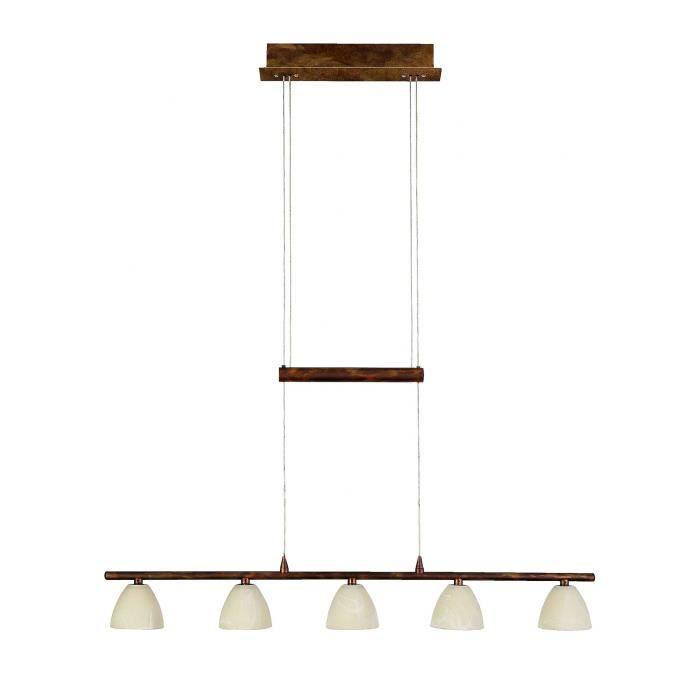 Lumières Métal Suspension 72cm 5 En Verre Dépoli Et Longueur Barre 9IH2ED