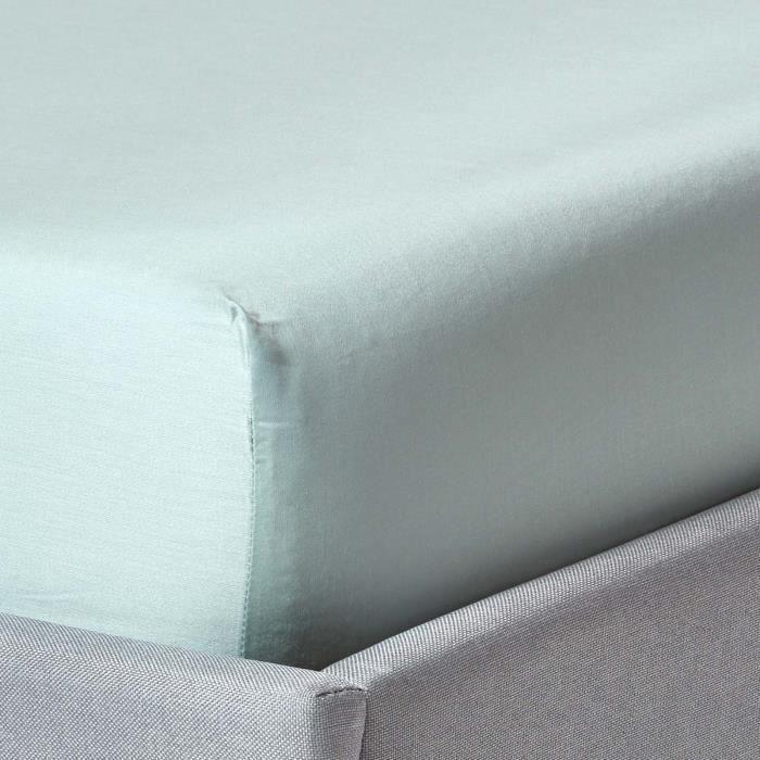 drap-housse matelas épais 140 x 190 cm coton égyptien bio 400 fils