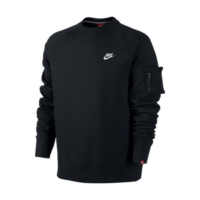 Nike 598701 Vente Crew Achat Noir Fleece Aw77 Sweat 013 U1dqU
