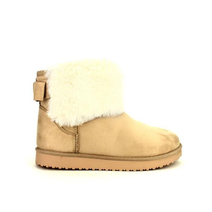 Bottines Beige Chaussures Femme, Cendriyon