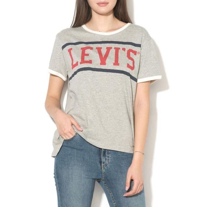 Teegris LGris Shirt Levi's Pour T Femme Perfect Ringer fb6vYgmI7y