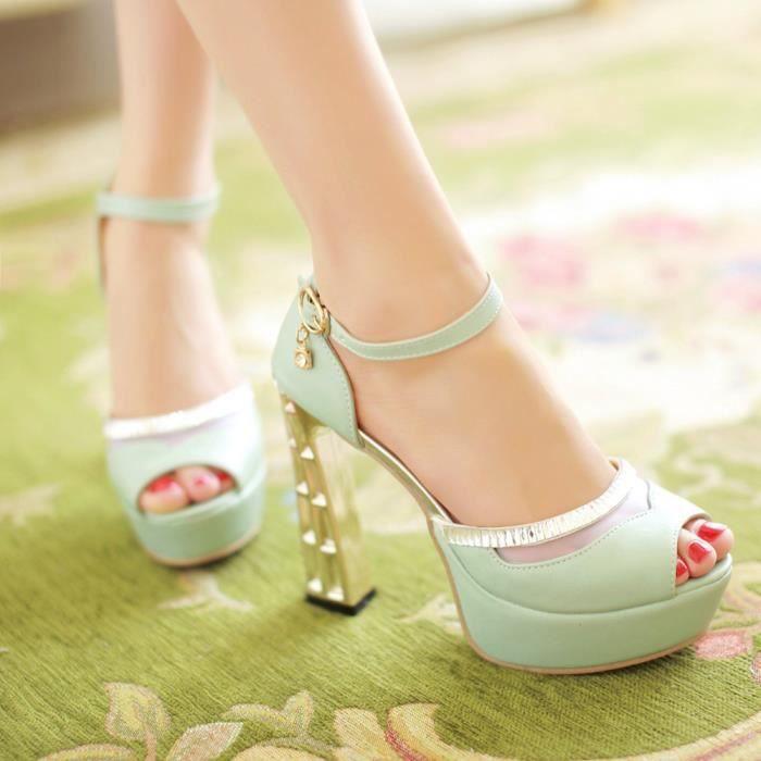 Nouveau Sandales à talons Femme Chaussure-tête ...