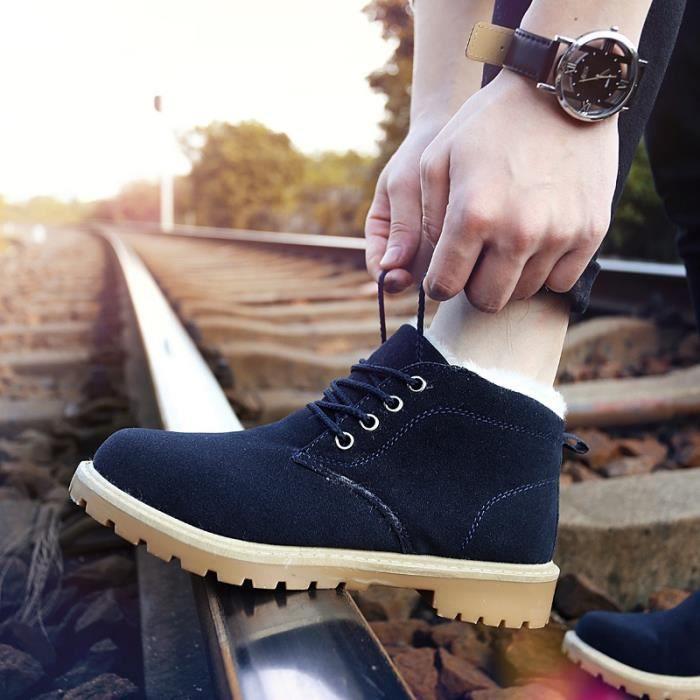 Botte Homme Style Coréen hiver Plate-forme - automne hommes noir taille6.5