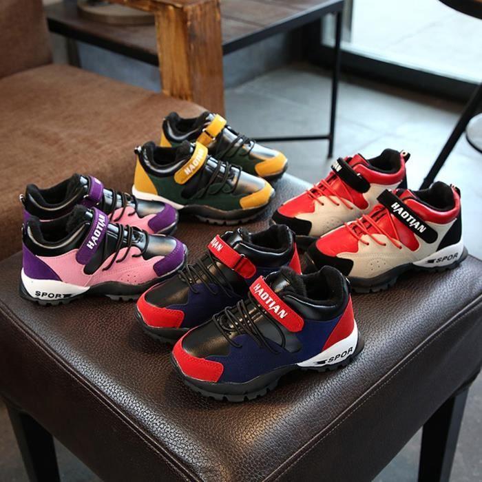 Chaussures Detente Chaussures enfants garçons et filles en automne et en hiver chaussures de sport de coton chaussures d'étudiant 471OpUw