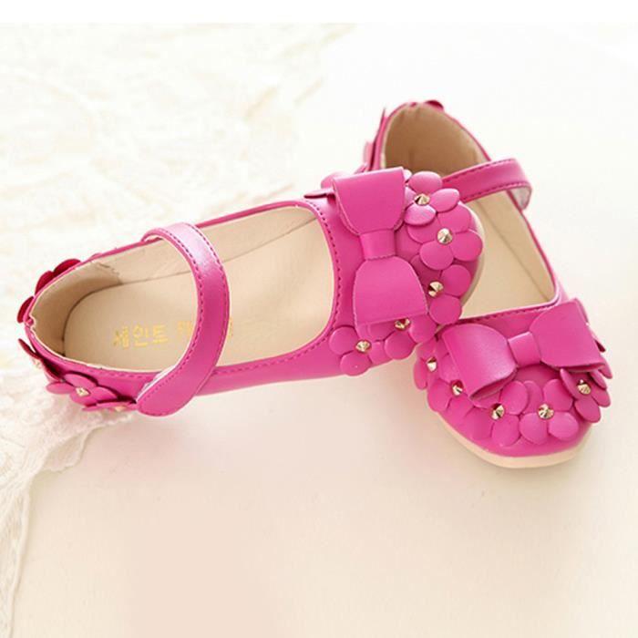 BOTTE Casual Enfants Printemps Floral Filles Enfants Mode Sneakers Doux Sandales Chaussures@Rose rougeHM