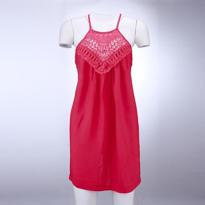 D'été Débardeurs Vrac Casual Dentelle T shirt Femme Chemisier Manches Rouge Débardeur Sans En OP0nwk