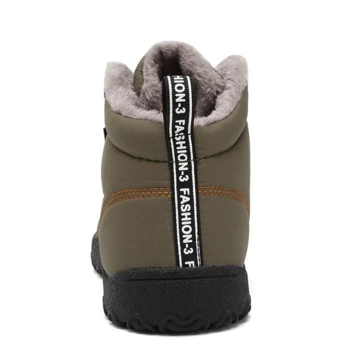 Bottes hiver d'hiver imperméables isolé en plein air Chaussures GZBG4 Taille-46