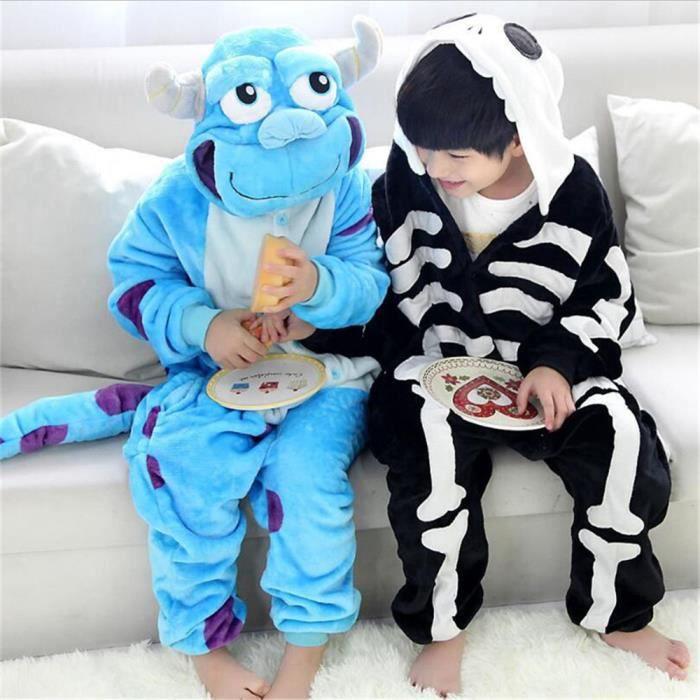 Marque Confortable Pour D'intérieur Halloween Humain Tenue Enfants Animé Luxe De Costumes Crâne Mignonne Dessin Pyjama 4tqfAC