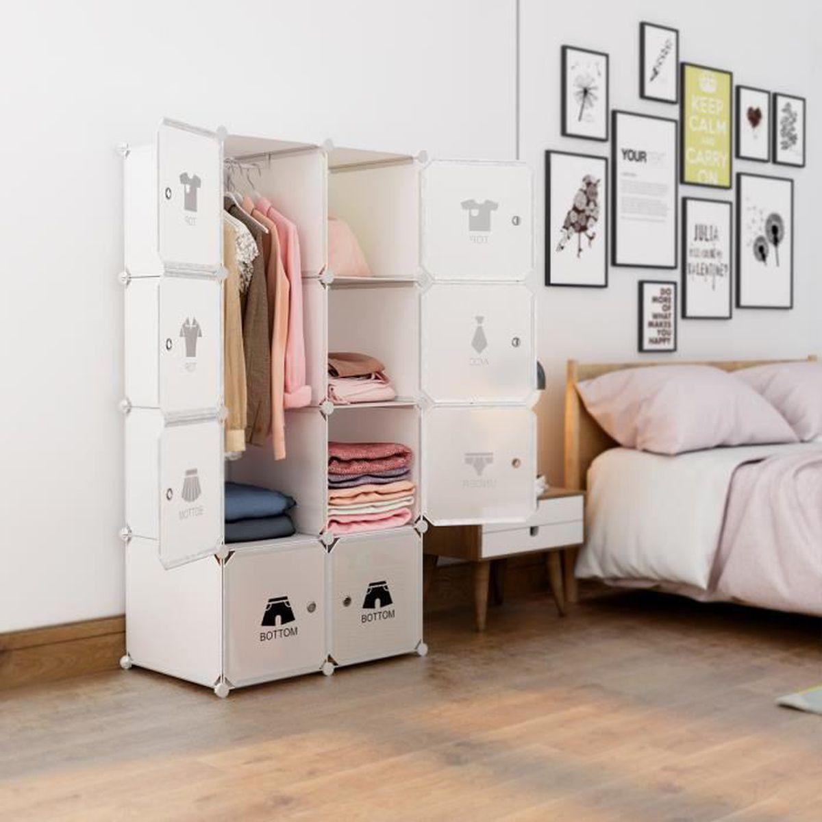 armoire chambre 8 portes - achat / vente pas cher