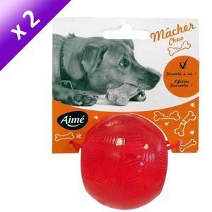 Lot de 2 - AIME Jouet Play Strong balle 6 cm - Pour chien
