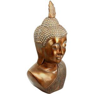 STATUE - STATUETTE Statue tête de Bouddha - H. 113 cm - Cuivre