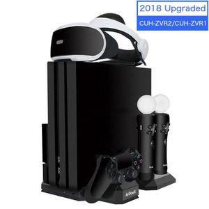 DOCK DE CHARGE MANETTE Support de Charge PSVR, Socle PS4 Slim / PS4 Pro /
