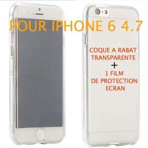 coque a rabat transparente iphone 6
