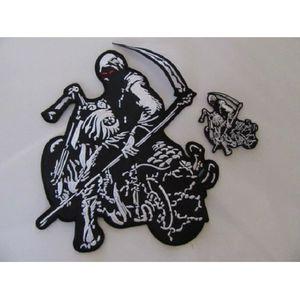 ACCESSOIRE CASQUE Grand patch dorsal la faucheuse en moto aux yeux r