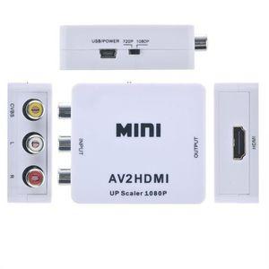 CÂBLE TV - VIDÉO - SON Heliomax Adaptateur Convertisseur Mini RCA AV CVBS