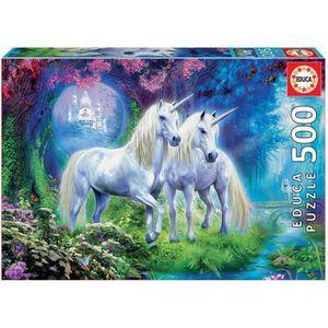 PUZZLE EDUCA Puzzle 500 pièces - Des Licornes Dans La For