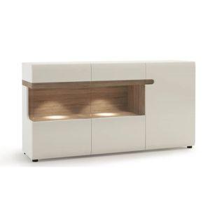 Buffet Salon buffet de salon design blanc laqué avec led smart - achat / vente